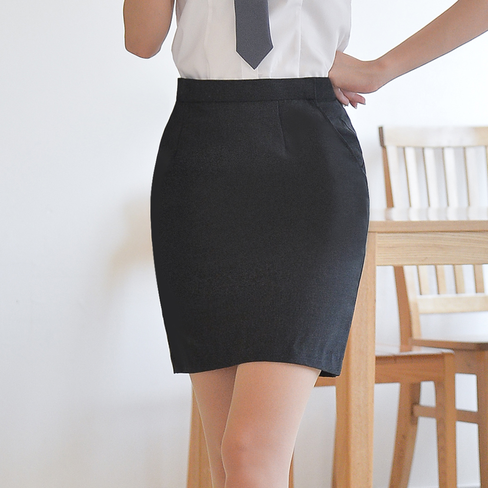 [하복] 스판 차콜 교복치마 교복 스커트