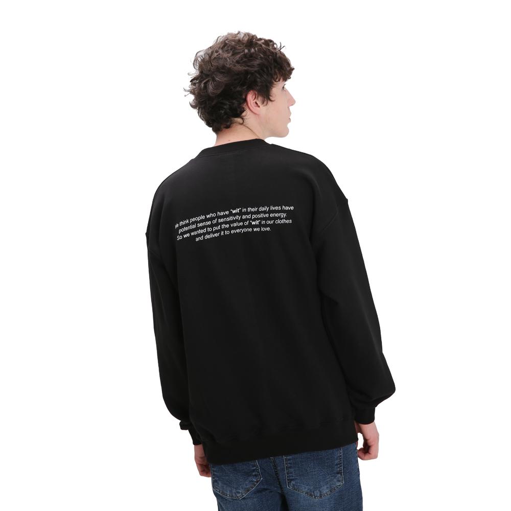 시그니처 스웨트셔츠(블랙)