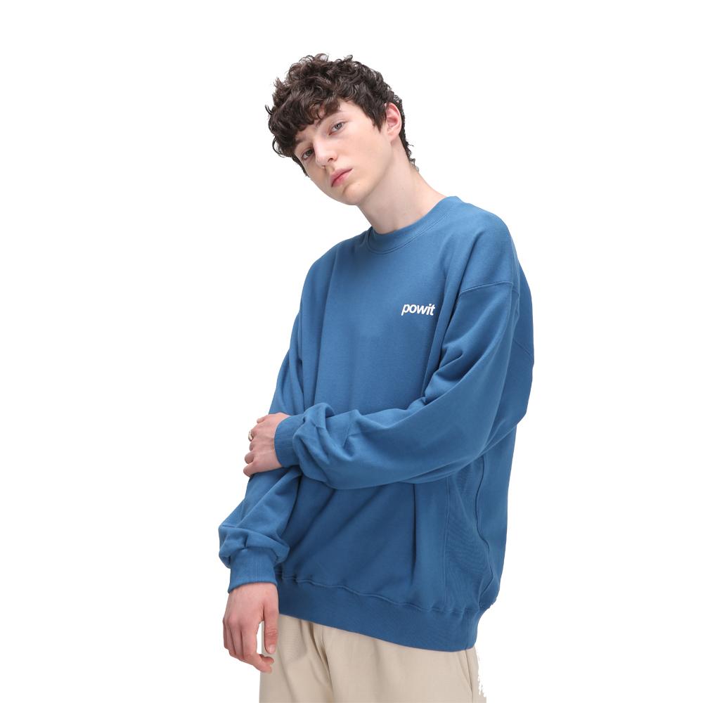 시그니처 스웨트셔츠(블루)