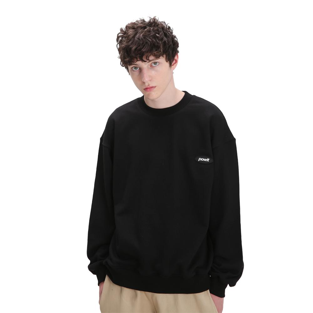 스몰 로고 스웨트셔츠(블랙)