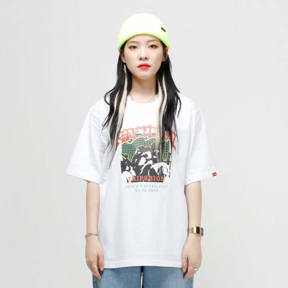 GANG IS REAL 티셔츠 - 화이트