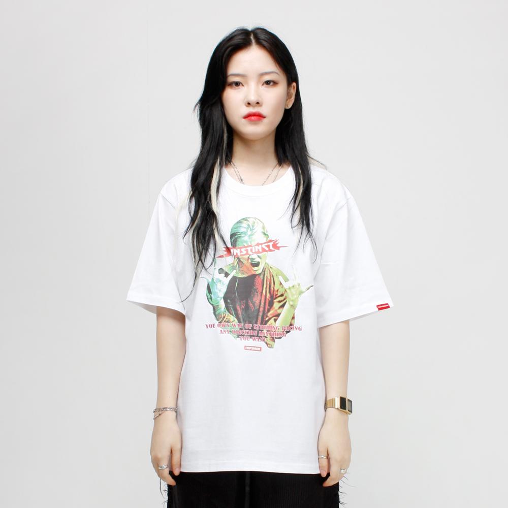 ROCK PEACE 티셔츠 - 화이트