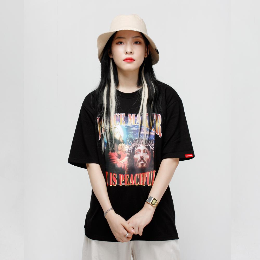 PEACE MAKER 티셔츠 - 블랙