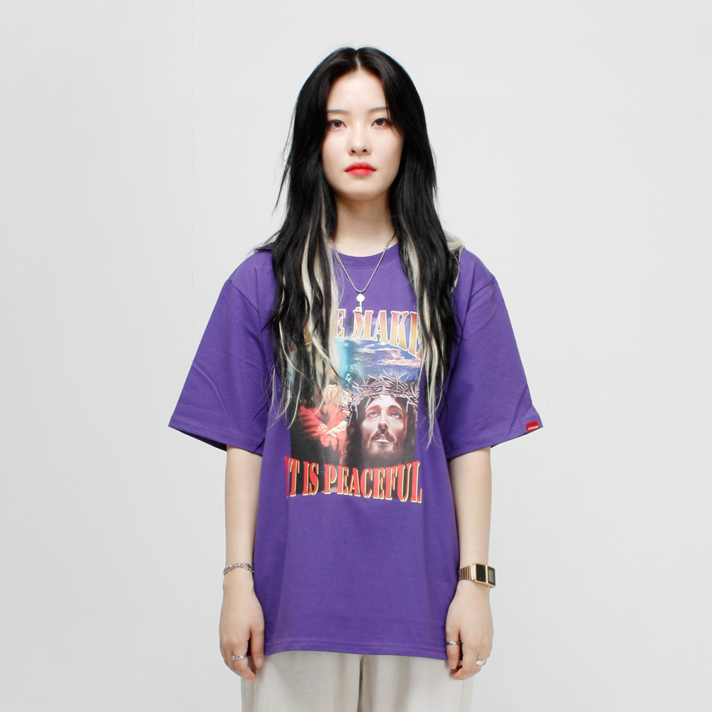 PEACE MAKER 티셔츠 - 퍼플