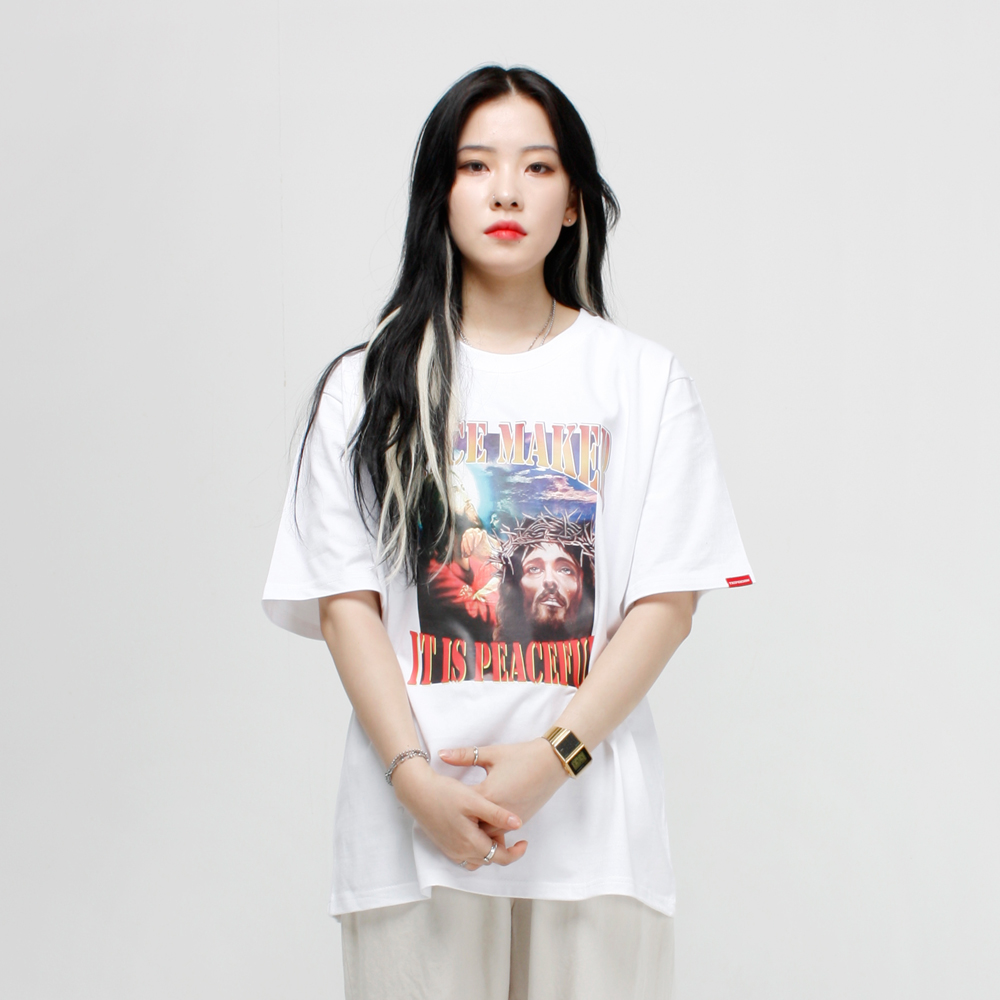 PEACE MAKER 티셔츠 - 화이트
