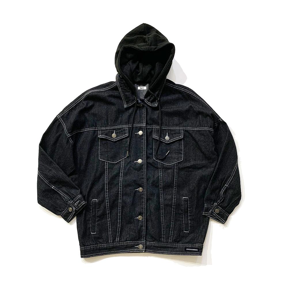 후드 트러커 자켓 블랙 Hood Trucker Jacket black