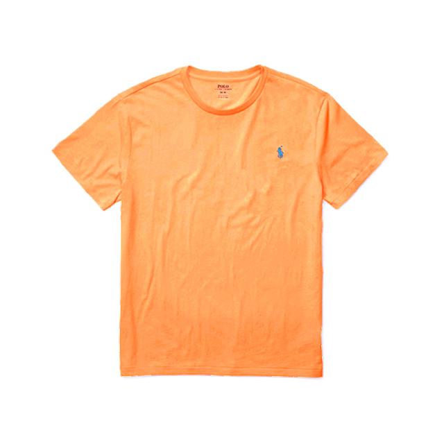 [국내배송]폴로랄프로렌 맨즈 라운드 반팔 티셔츠 라이트오렌지(블루로고) 남녀공용 Polo Ralphlauren