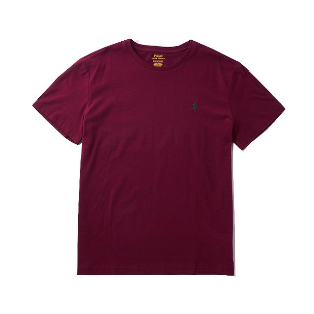[국내배송]폴로랄프로렌 맨즈 라운드 반팔 티셔츠 041 버건디(그린) 남녀공용 Polo Ralphlauren