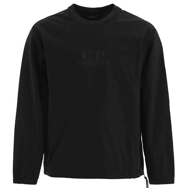 [해외]CP컴퍼니 프로테크 로고 스웨트셔츠 블랙