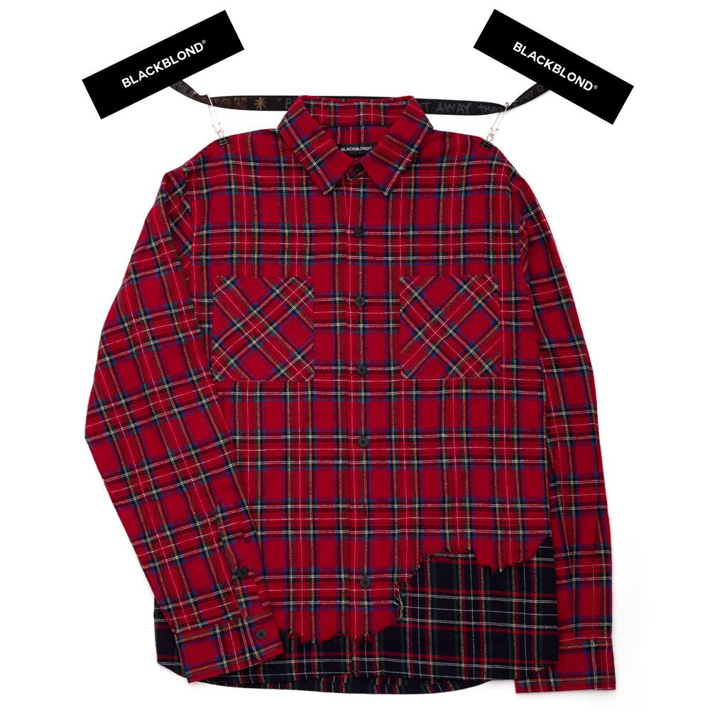 BBD Layered Check Shirt (Red)