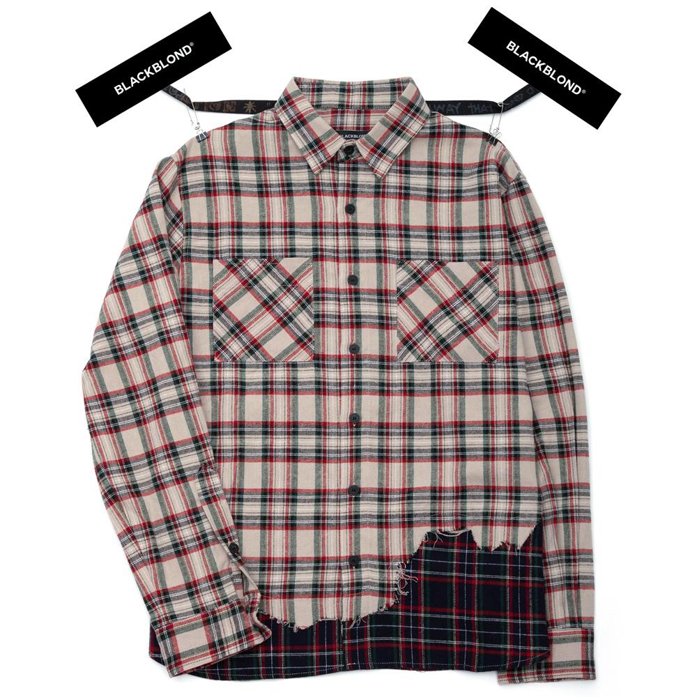 BBD Layered Check Shirt (Beige)