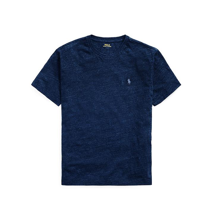 [국내배송]폴로랄프로렌 맨즈 라운드 반팔 티셔츠 710610667 096 멜란지 다크네이비 남녀공용 Polo Ralphlauren