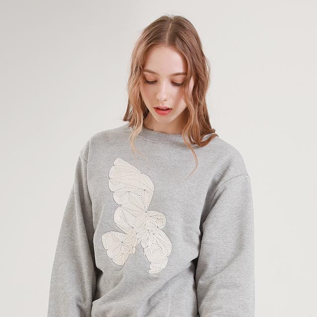 화이트 로프 부엉이 맨투맨 티셔츠