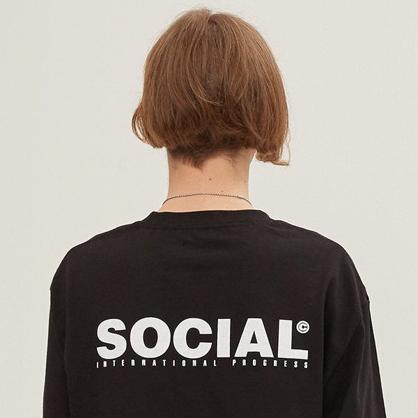 SOCIAL LOGO LONG SLEEVE_BLACK