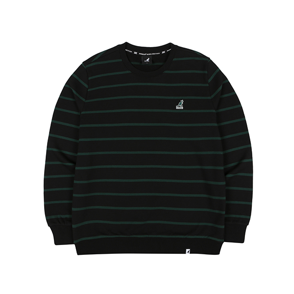 Club Stripe Sweatshirt 1614 BLACK