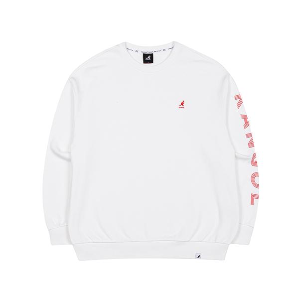 Word Sleeve Sweatshirt 1622 WHITE