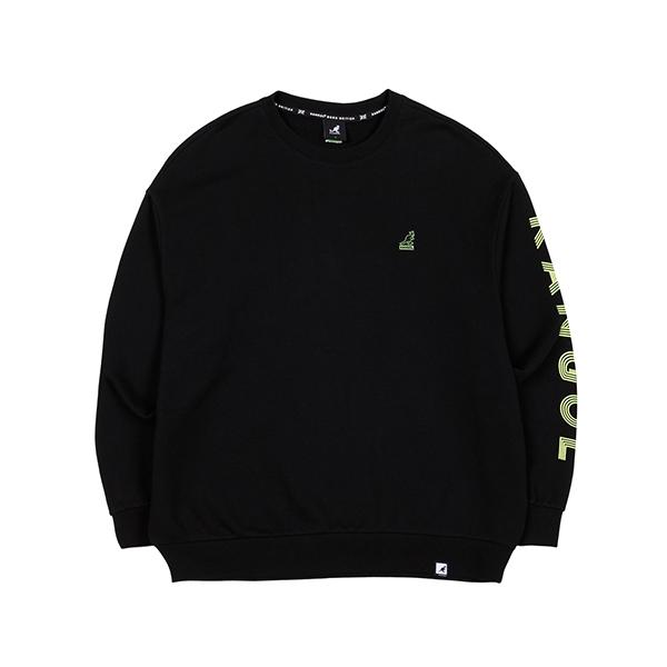 Word Sleeve Sweatshirt 1622 BLACK