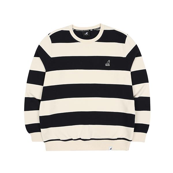 Wide Stripe Sweatshirt 1615 NAVY