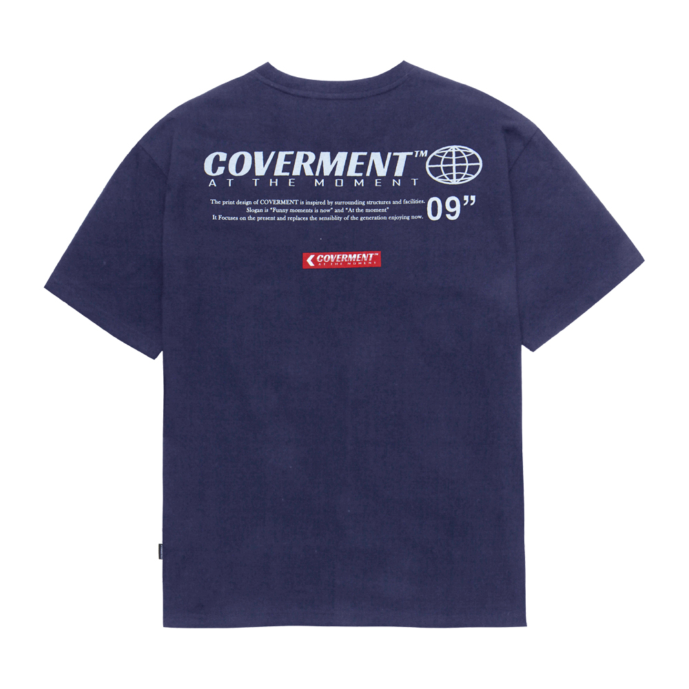 [COVERMENT] Earth Logo Print TEE