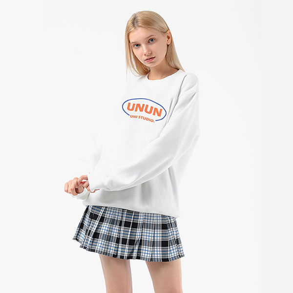 [단독특가]유니 UNI UNUN SWEATSHIRT IVORY (M-017)