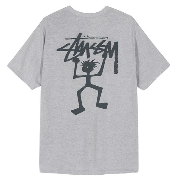 [해외]19FW 스투시 워리어 티셔츠 애쉬