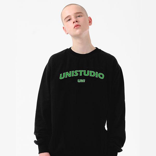 [단독]유니 UNI STUDIO SWEATSHIRT BLACK (M-012)