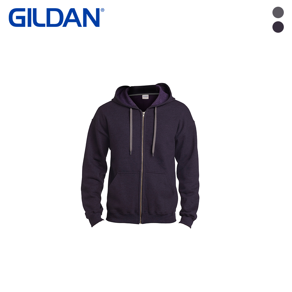 [GILDAN] USA핏 무지 후드집업