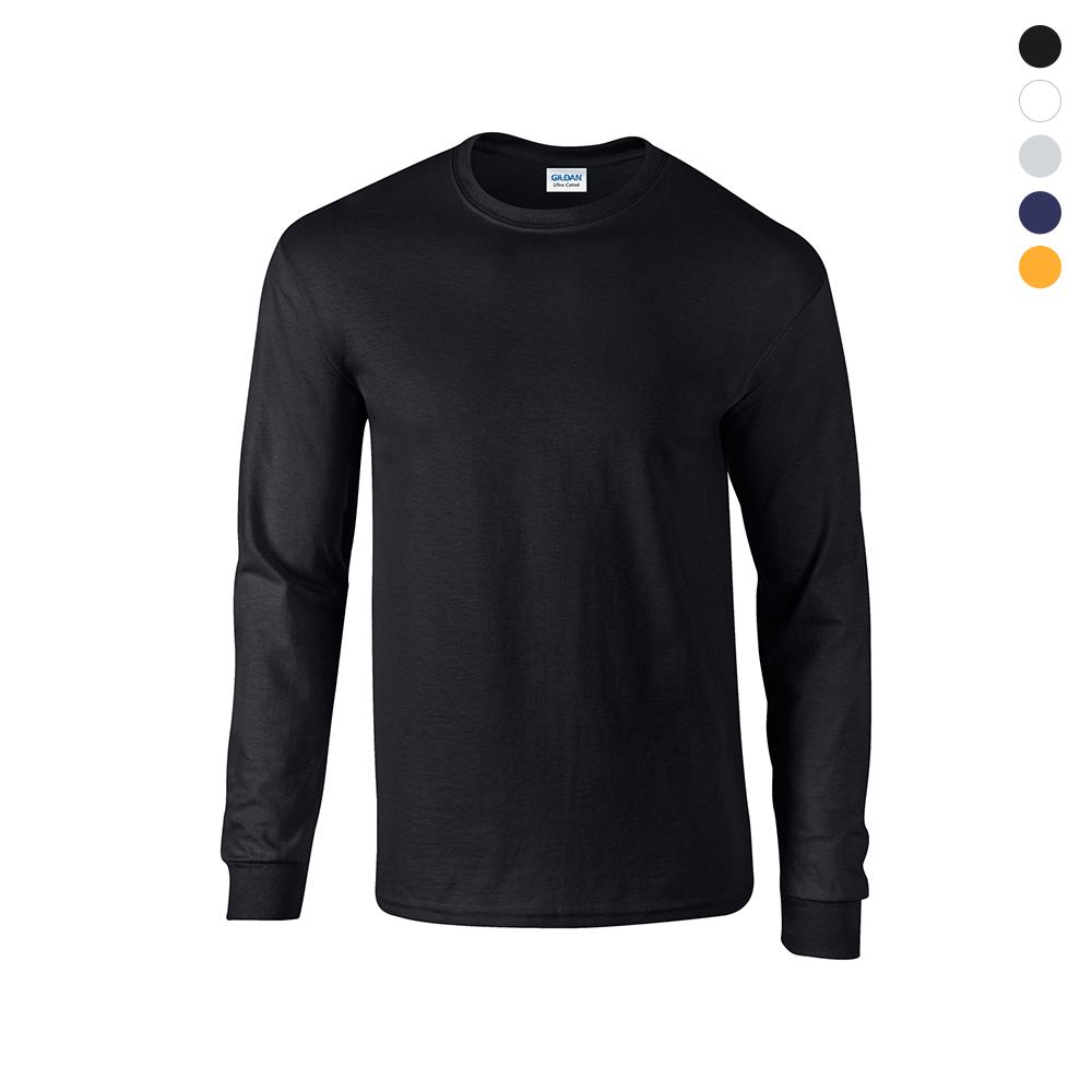 [GILDAN] 남녀공용 USA핏 무지 긴팔 티셔츠 (5color)