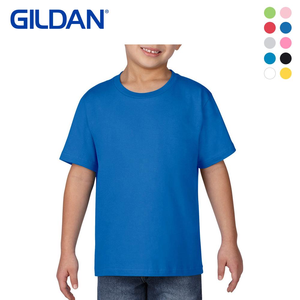 [GILDAN] 키즈 무지 반팔 라운드 티셔츠
