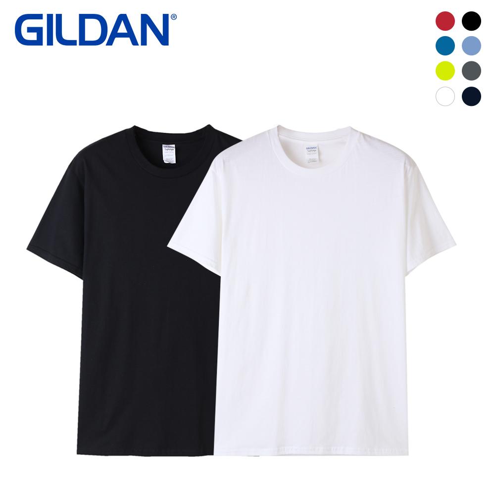 [GILDAN] 남녀공용 USA핏 코튼 무지 반팔티