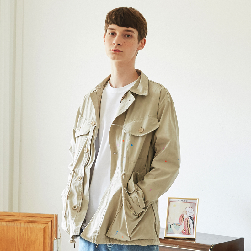 [단독특가][unisex] art short jacket (beige)