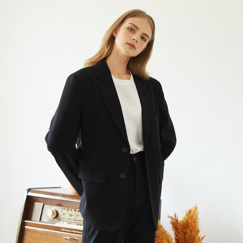 [unisex] close jacket (black)