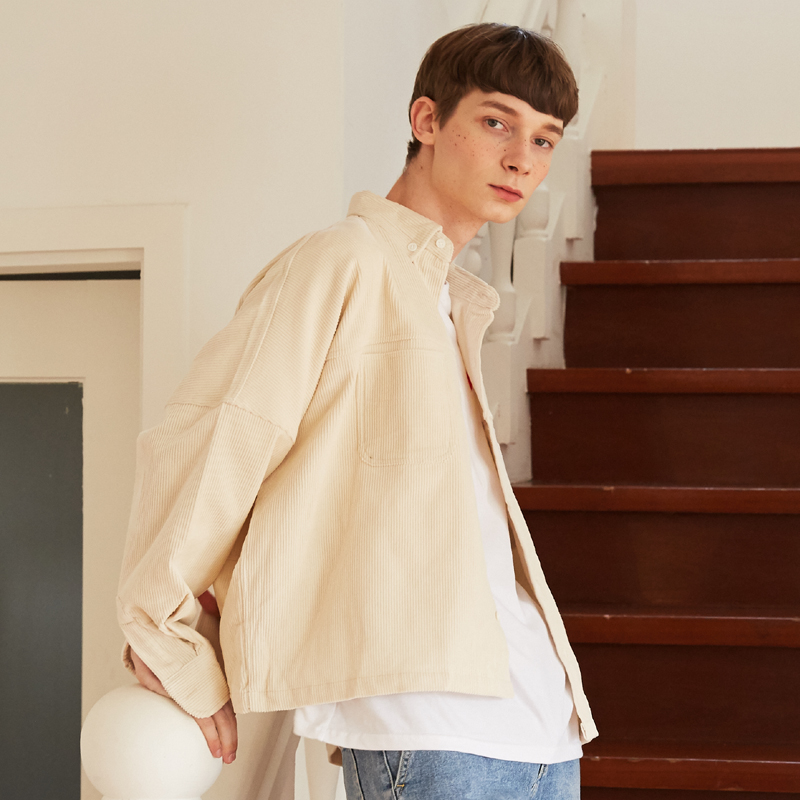 [unisex] coduroy jacket (beige)