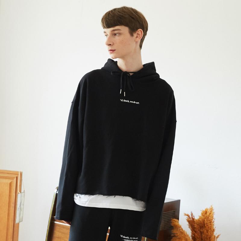 [unisex] cut hood (black)