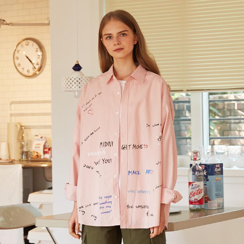 [unisex] graffity shirts (pink)