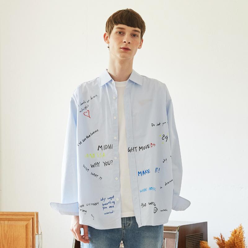 [unisex] graffity shirts (sky blue)