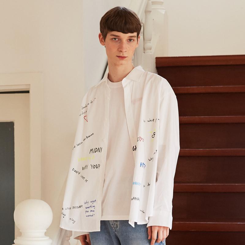 [unisex] graffity shirts (white)