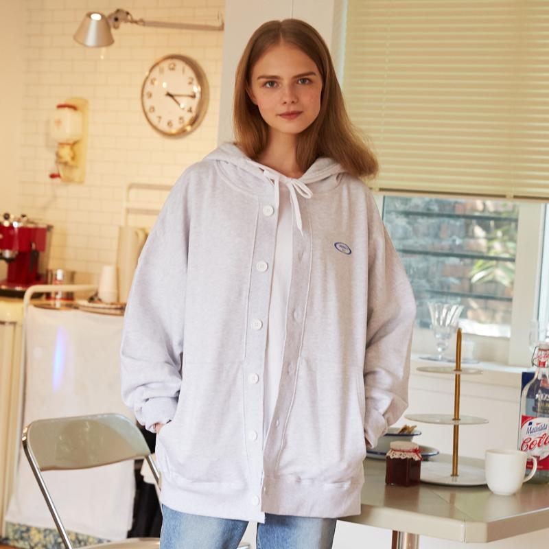 [unisex] hood cardigan (off white)