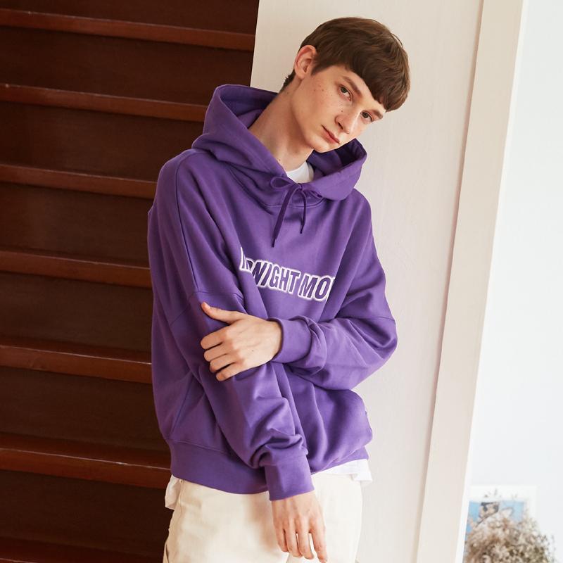 [단독특가][unisex] lettering hood (purple)