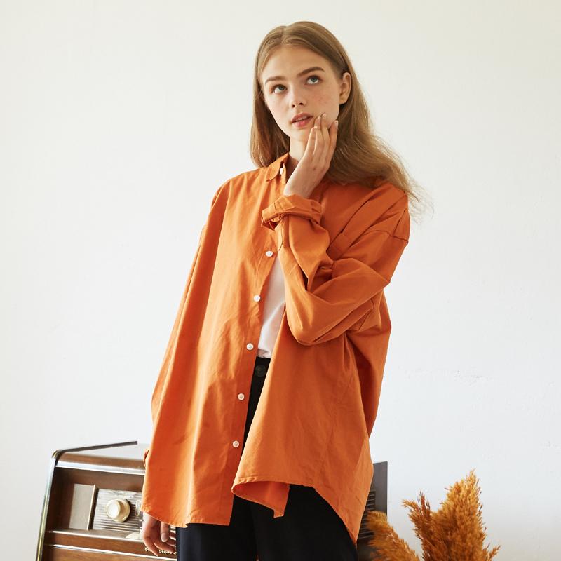 [unisex] neck shirts (orange)