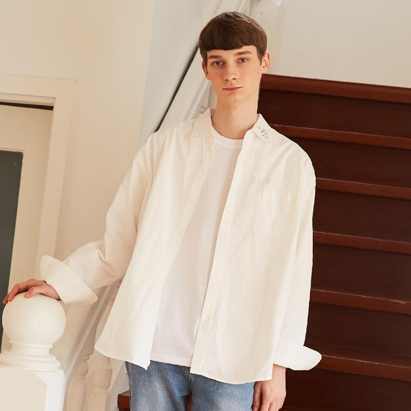 [unisex] neck shirts (white)