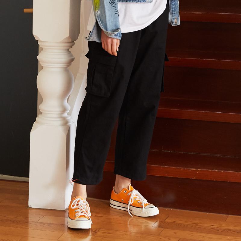 [unisex] orange point pants (black)