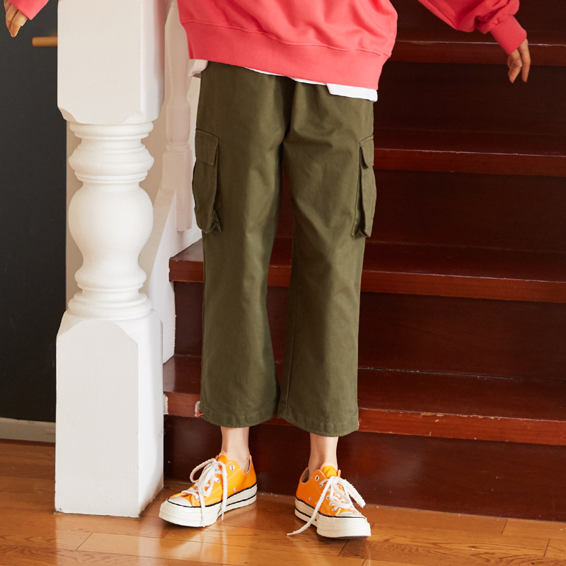 [unisex] orange point pants (khaki)