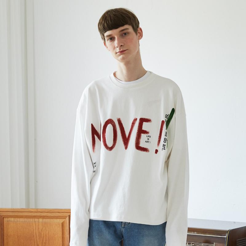 [unisex] slogan T (white)