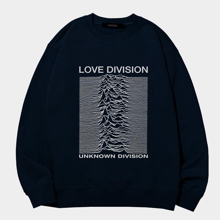 [마스크증정]LOVE DIVISION 실버라인 에드반스 네이비  스웨트 셔츠 (챔피온 코튼)