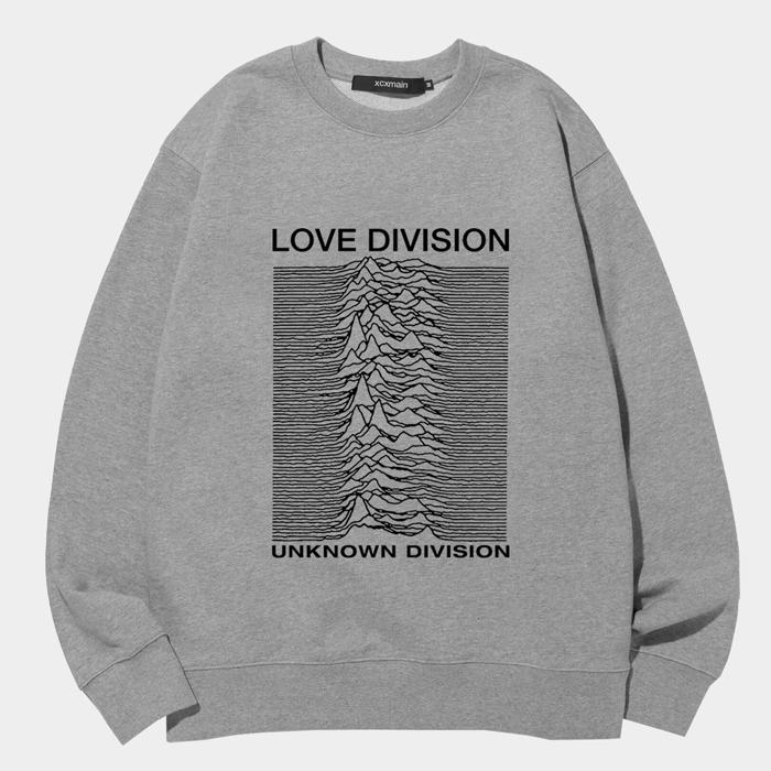 [마스크증정]LOVE DIVISION 에드반스 멜란지 스웨트 셔츠 (챔피온 코튼)