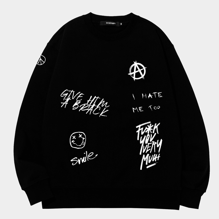 [마스크증정]PARADE 에드반스 버닝 블랙 스웨트 셔츠 (챔피온 코튼)