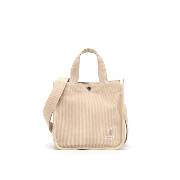Cord mini Tote Bag 3744 BEIGE