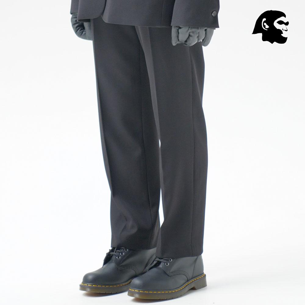 [퍼스텝] 원버튼 세미와이드 슬랙스 블랙 BJLP4322