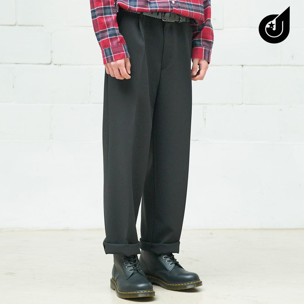 [다이클레즈] 네드 와이드 슬랙스 블랙 PSLP5120